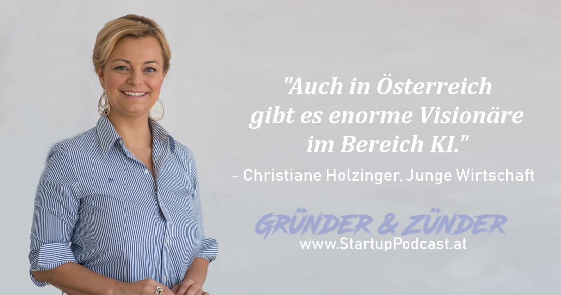Im Podcast: Christiane Holzinger, Vorsitzende Junge Wirtschaft: künstliche Intelligenz, Roadshow & South by Southwest Festival